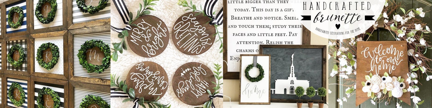 36f86a035227 Hand lettered signs 3D word cutouts and by HandcraftedBrunette