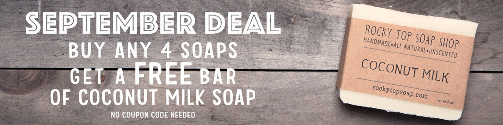 Unscented Soaps and Balms by RockyTopSoapShop on Etsy
