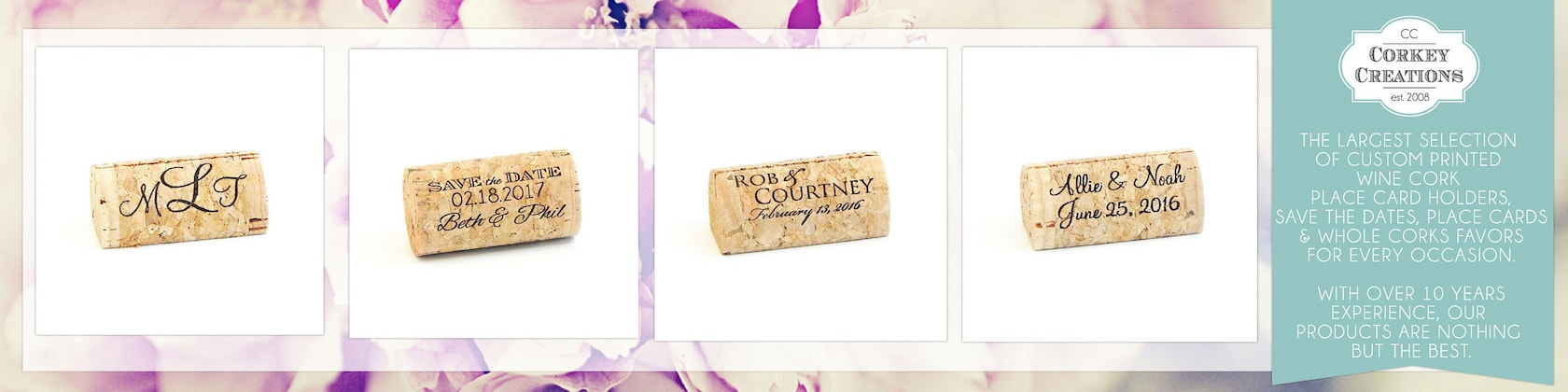 Wine Cork Place Card Holders Personalized And By Corkeycreations