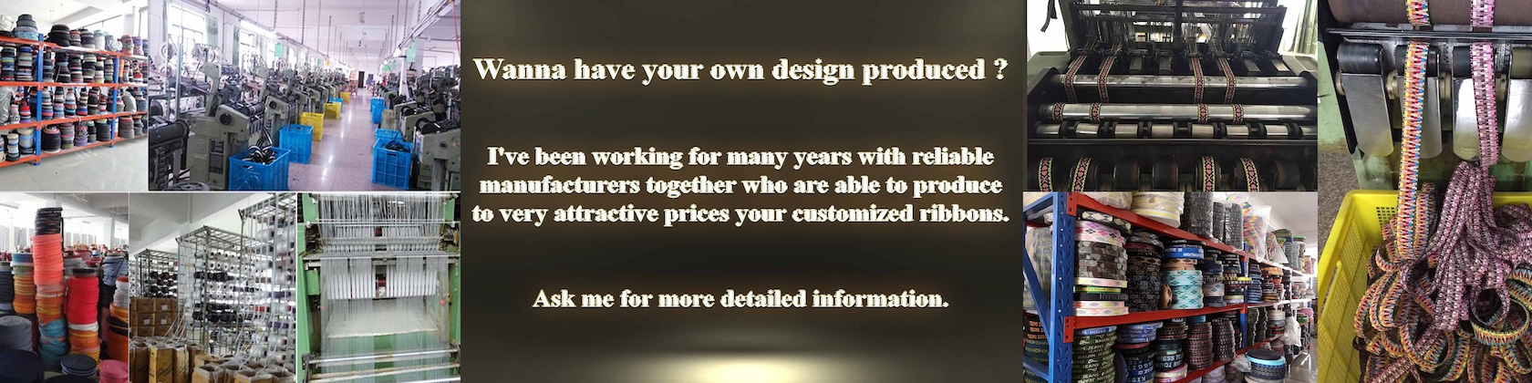 Producing your own ribbon design ask for minimum by