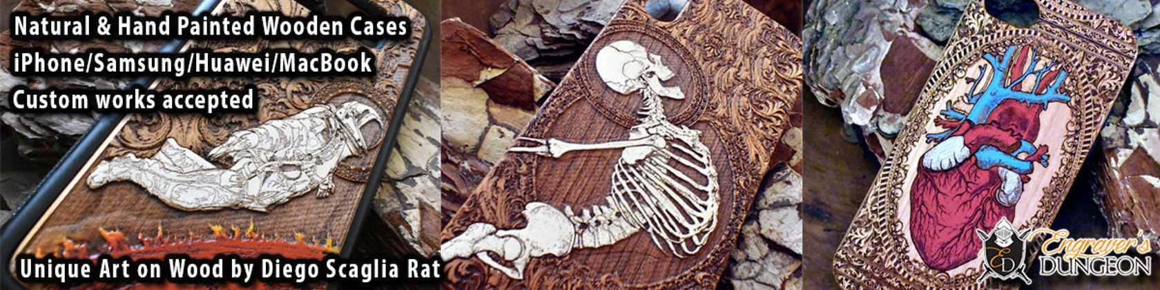 f69b142695b Unique Craftsmanship & High Quality Wooden de EngraversDungeon