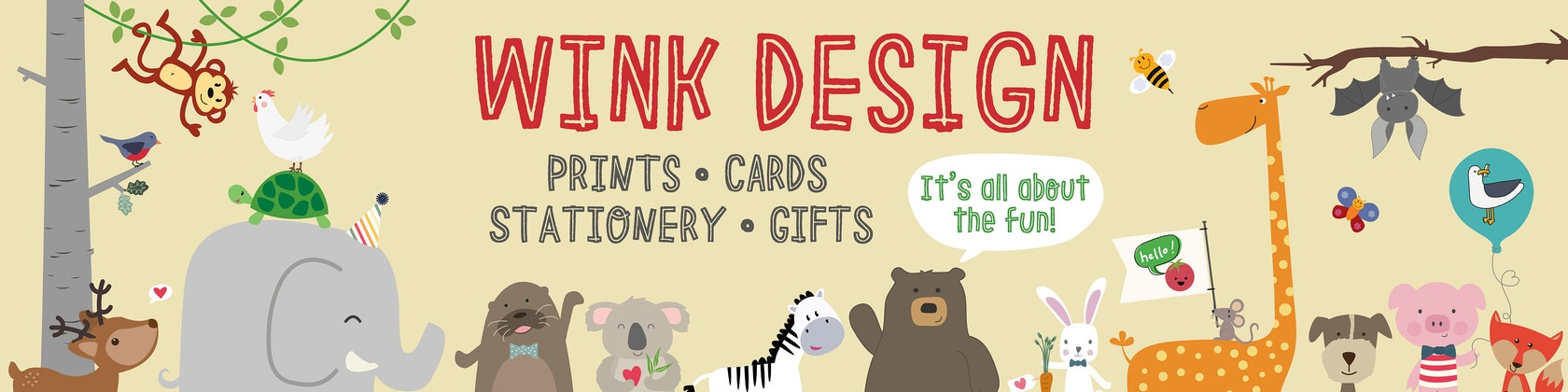 Wink Designs Small//Black//Zebra