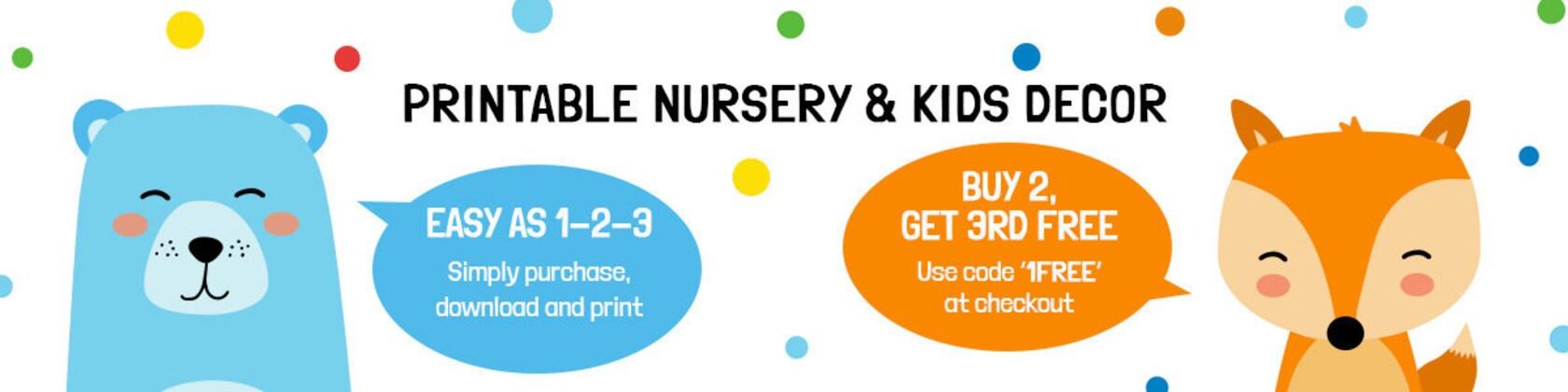 Printable Nursery & Kids Decor. Buy 2 Get 1 Free von BabyCoStore