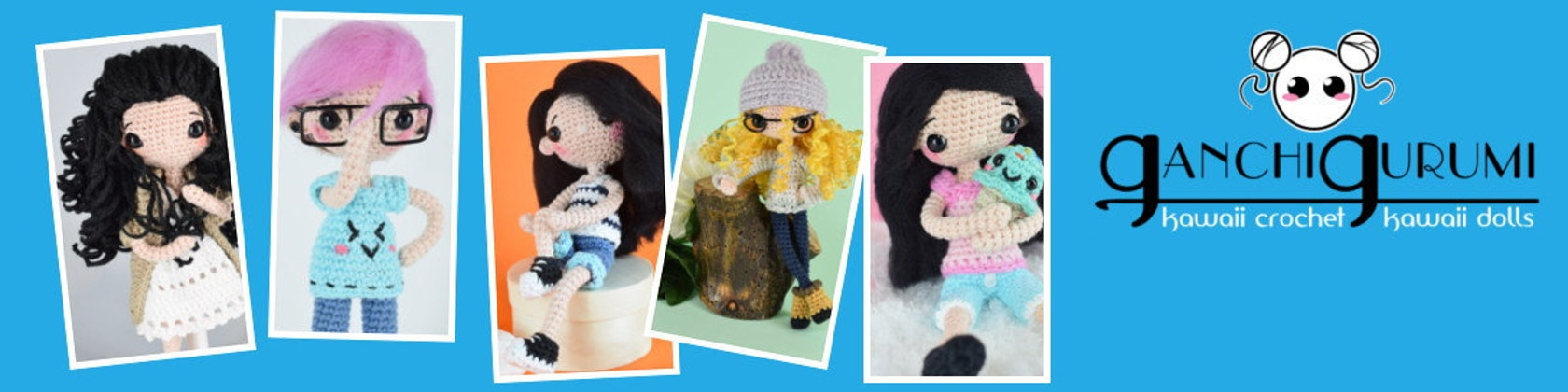 Kawaii crochet. Kawaii dolls por GanchiGurumi en Etsy