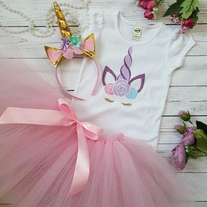 Handmade Baby girl mon premier Pâques rose et or Costume Tutu Princess