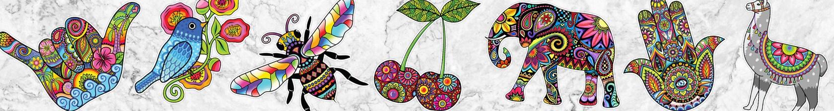 Stickable art for your car laptop wall etc de MeganJDesigns