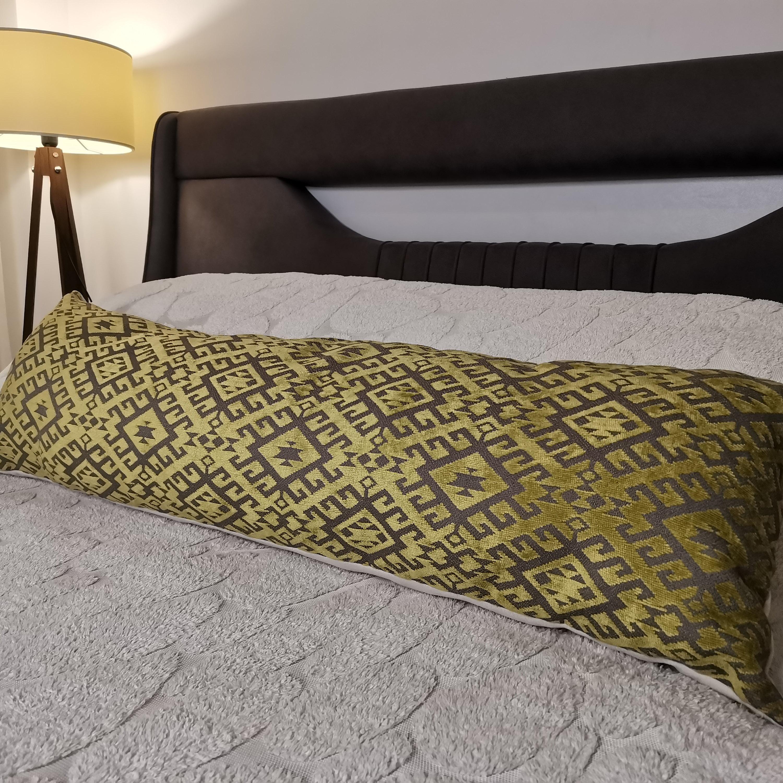long pillow handmade pillow handwoven pillow lumbar pillow cover extra long turkish pillow long lumbar pillow 120x20cm = 47x7.8 inches