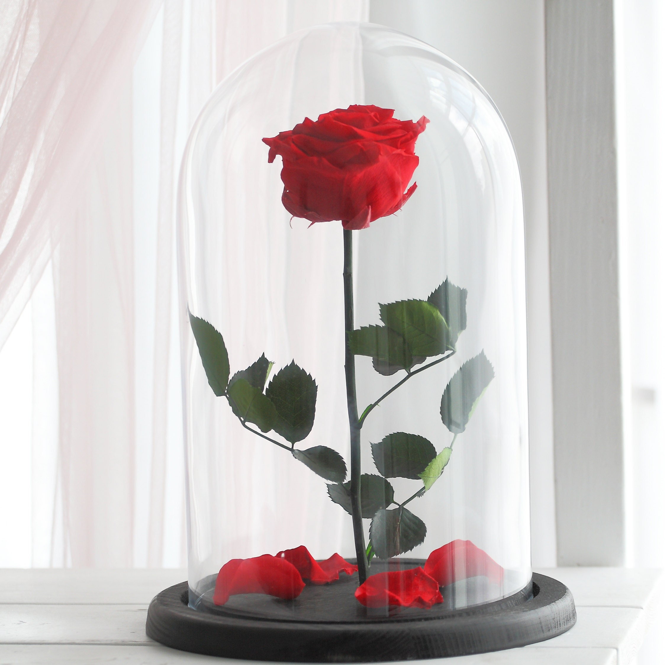 Beauty and the beast rose large red forever rose etsy julianasdesign izmirmasajfo