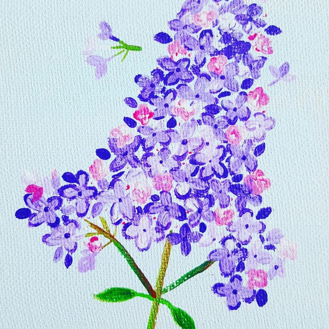 Original watercolor painting blue flower names etsy izmirmasajfo