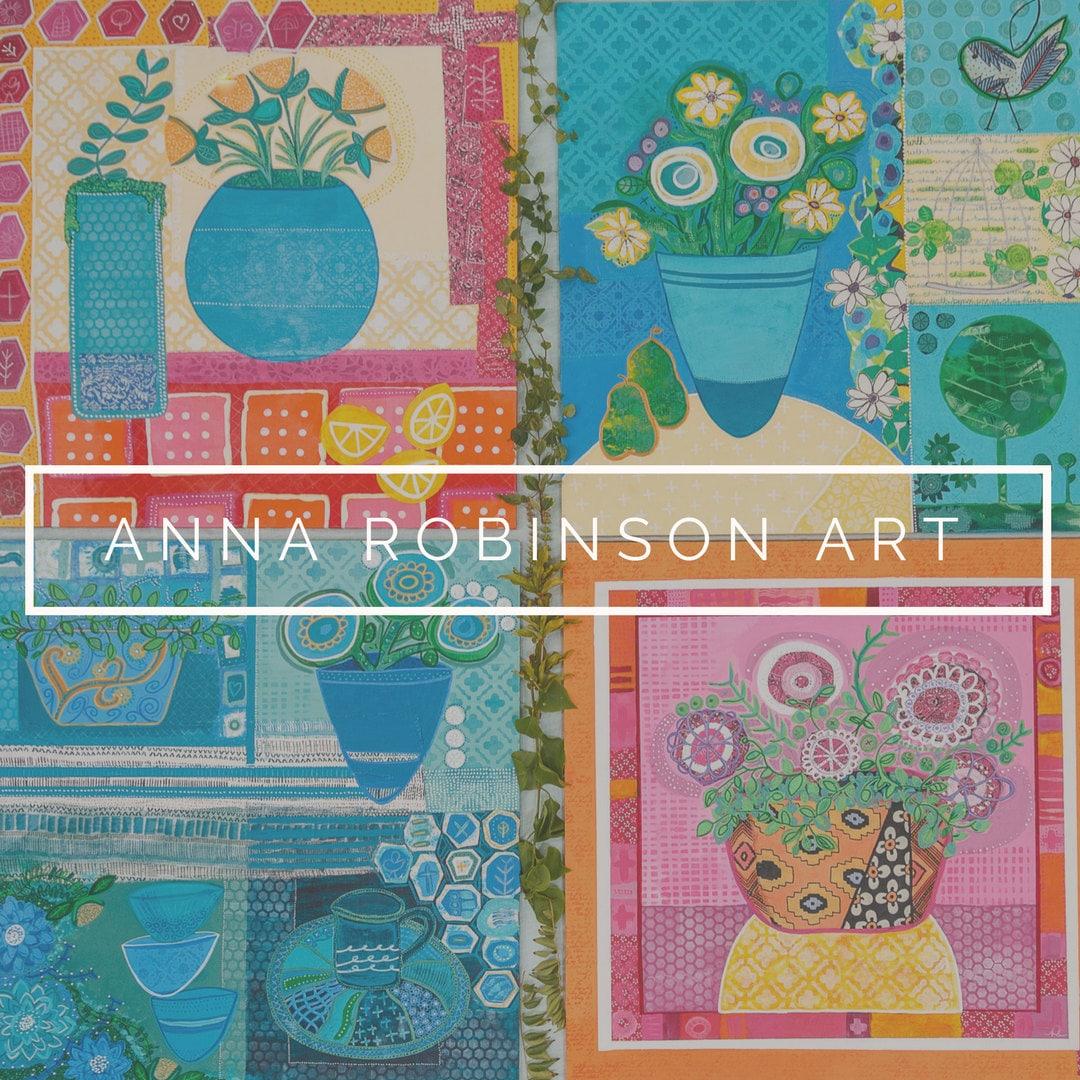 Art Greeting Card Joy Blank Greeting Card Mothers Etsy