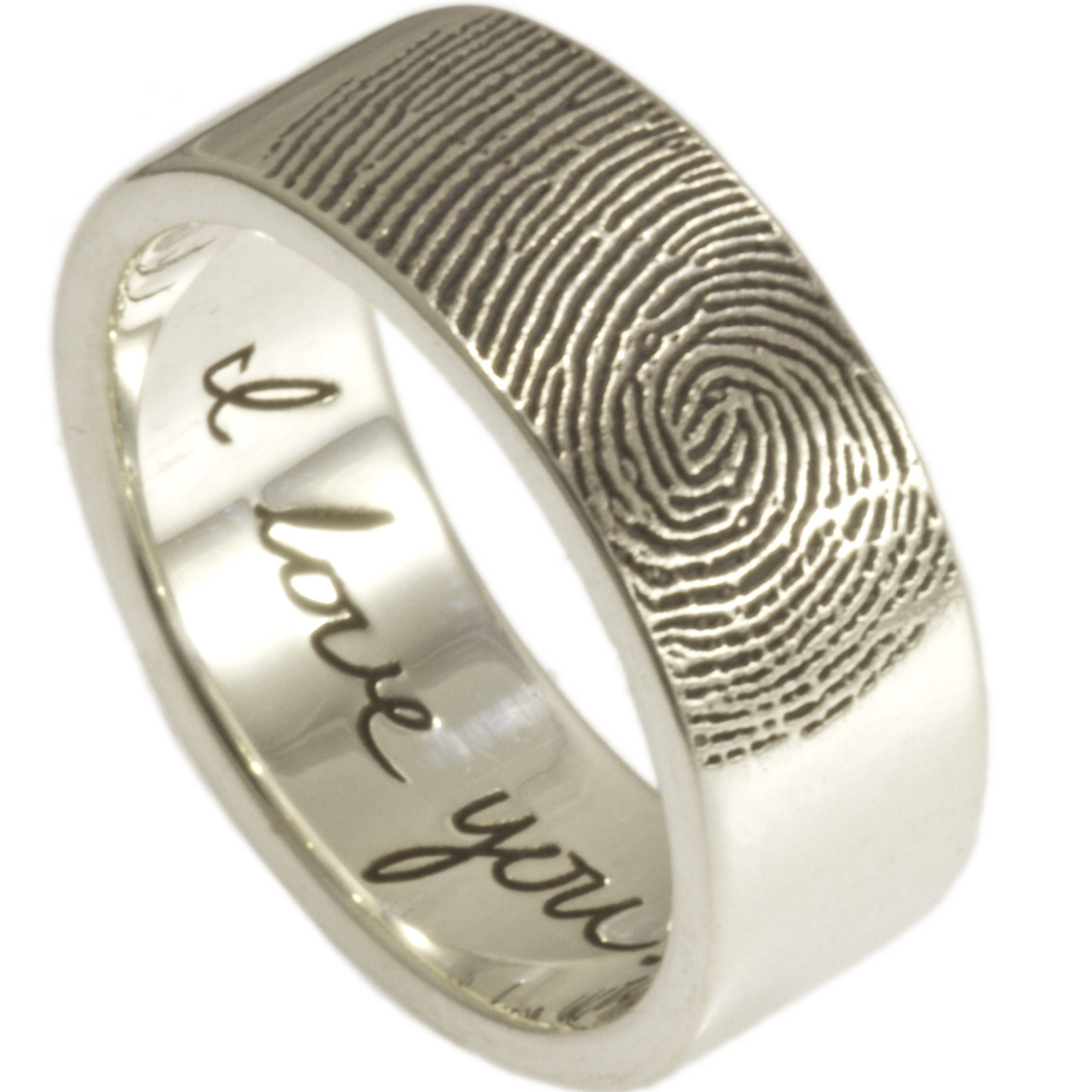 the custom on pin outside rings with not fingerprint wrapped band wedding blackened mm palladium