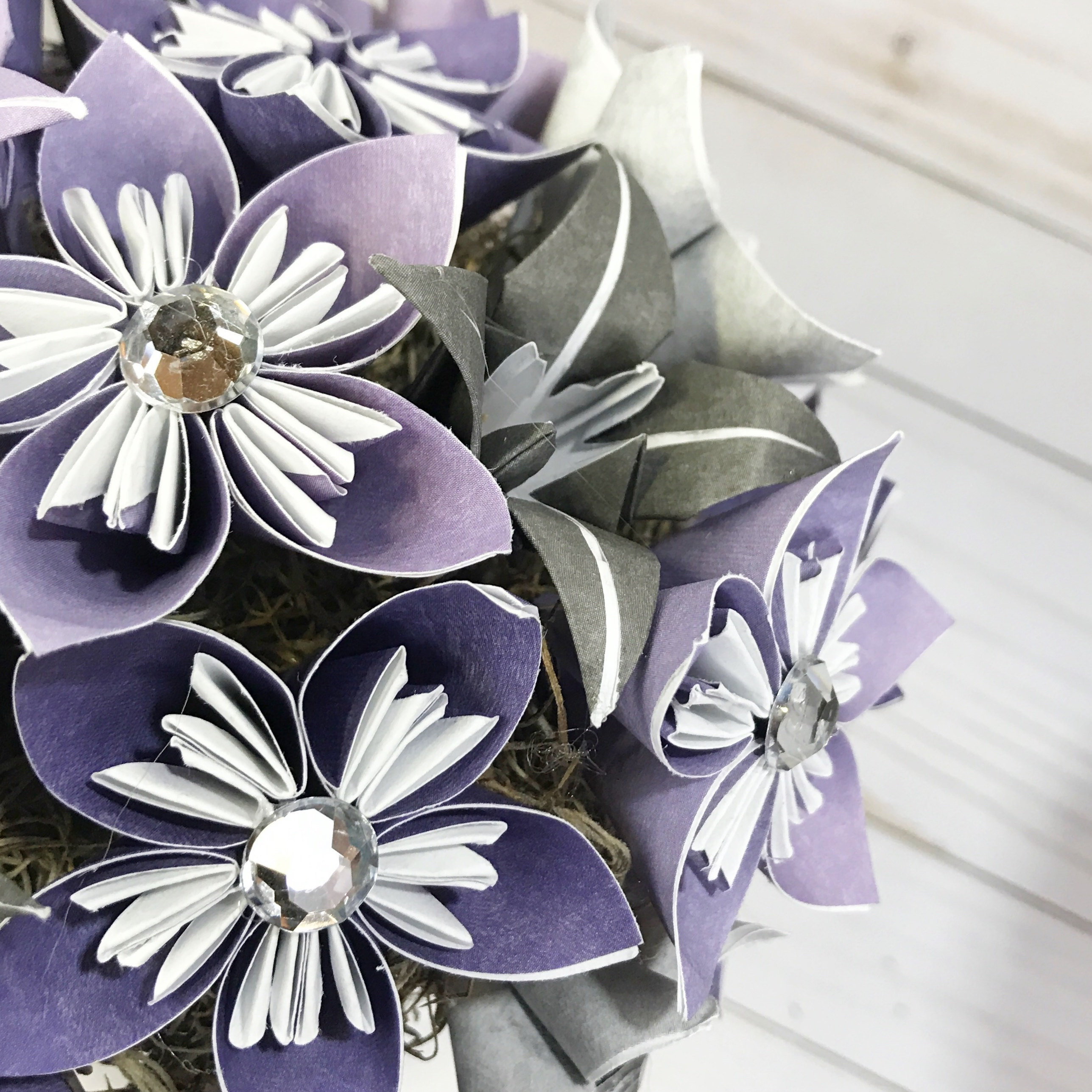 Boutonniere Paper Flower Wedding Origami Flower Etsy
