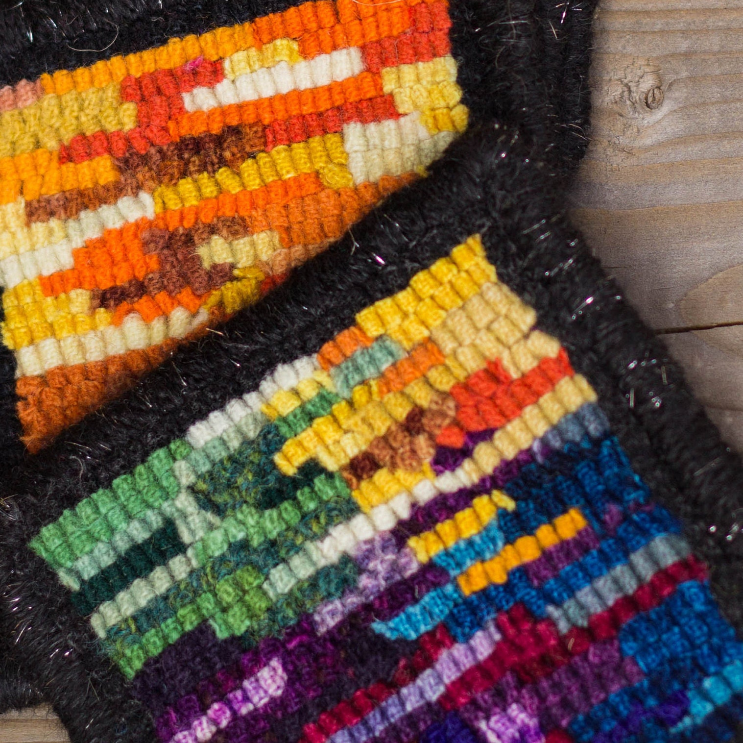 Gorgeous And Unique Rug Hooking Kits Wool And By Loopywoolsupply