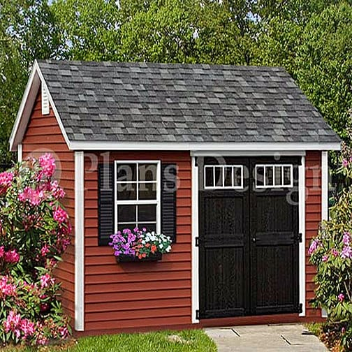 Do-it-Yourself Patterns Storage Shed Plans 16/' x 16/' Reverse Gable Roof Style