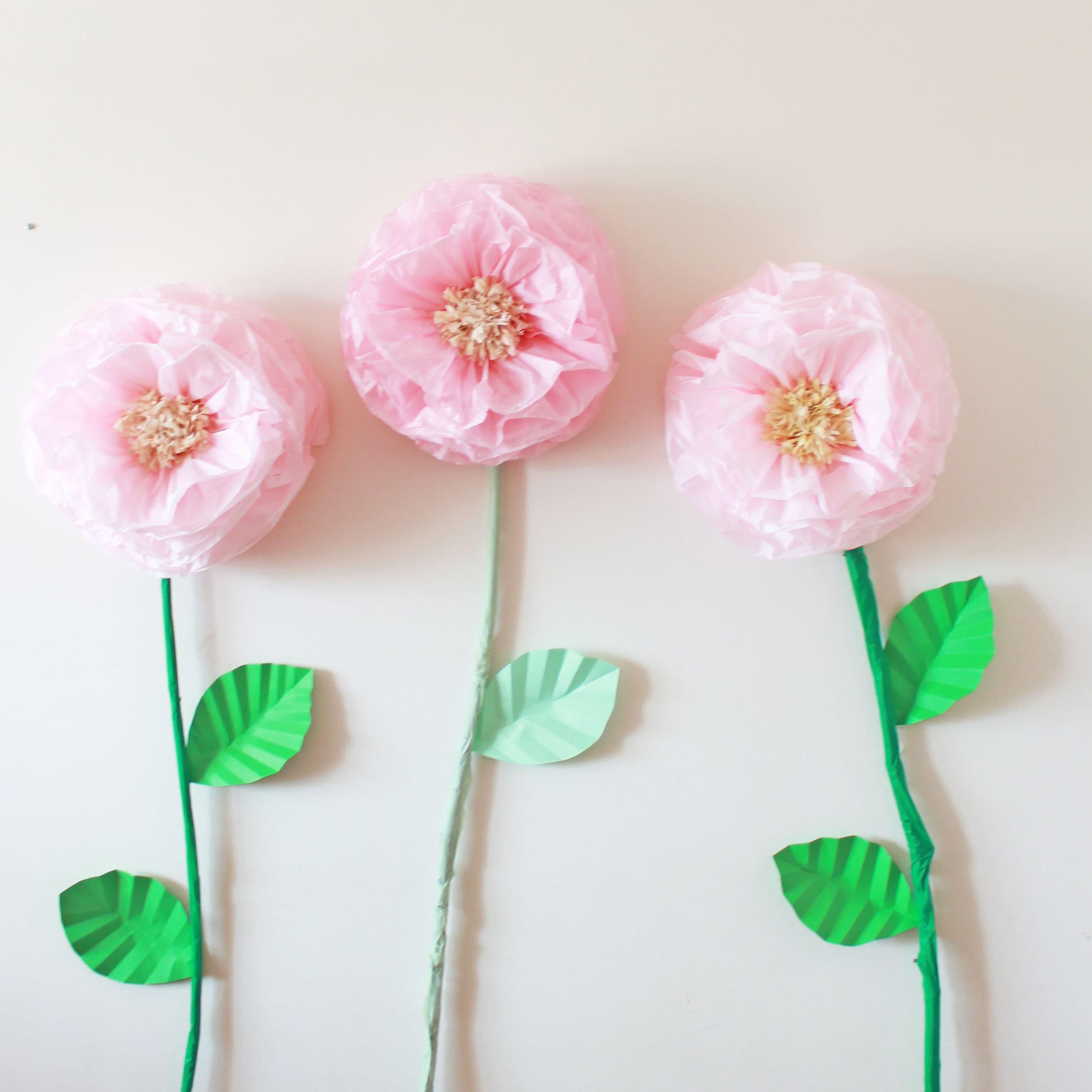 40 Units Small Size 6 Tissue Paper Pom Poms Ash Pink Etsy