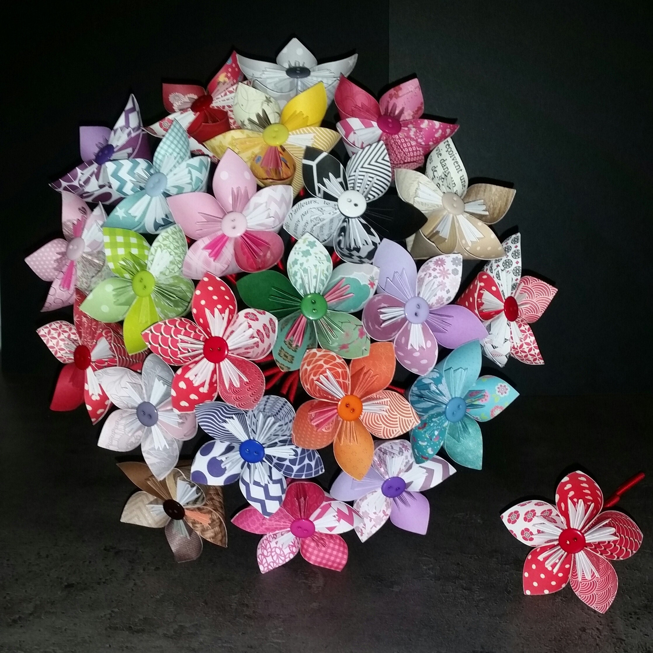 Example 15 Origami Paper Flower Bouquet Etsy