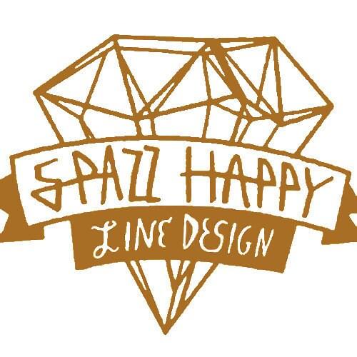 SPAZZ HAPPY Von SpazzHappyLineDesign Auf Etsy