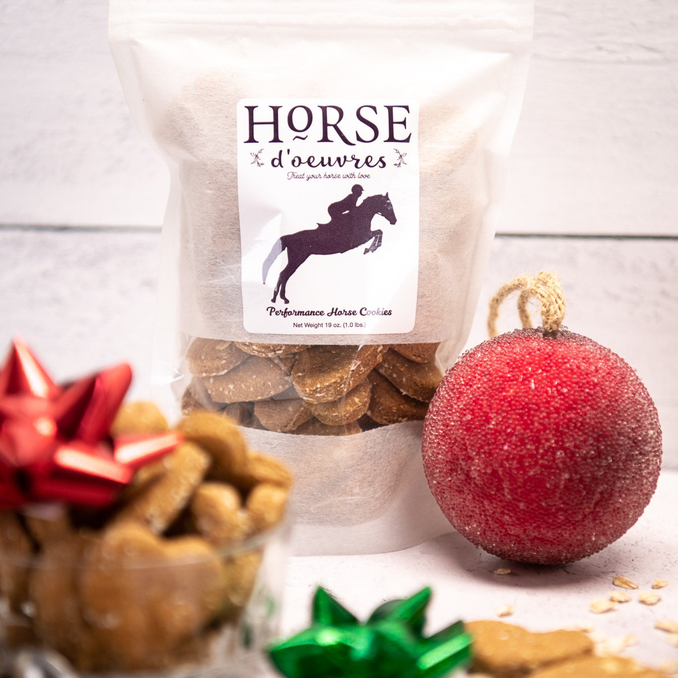 Horse Treat Heart Shape Eco Friendly Packaging By Horsedoeuvres