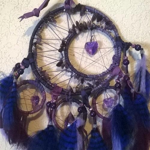 Purple Blue Tanzanite Nugget White Hairpipe Native American Earrings