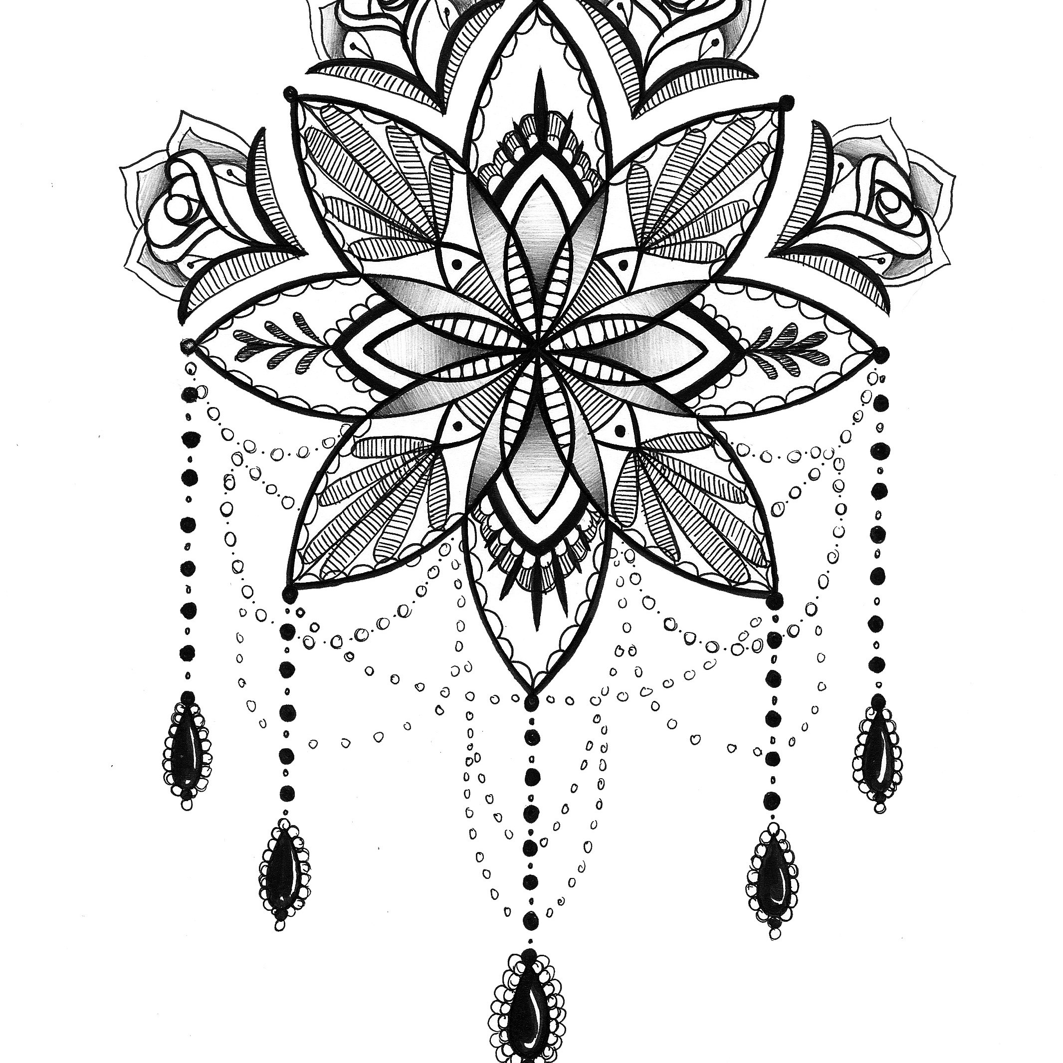 Lace Dream Catcher Coloring Page Instant Download Print