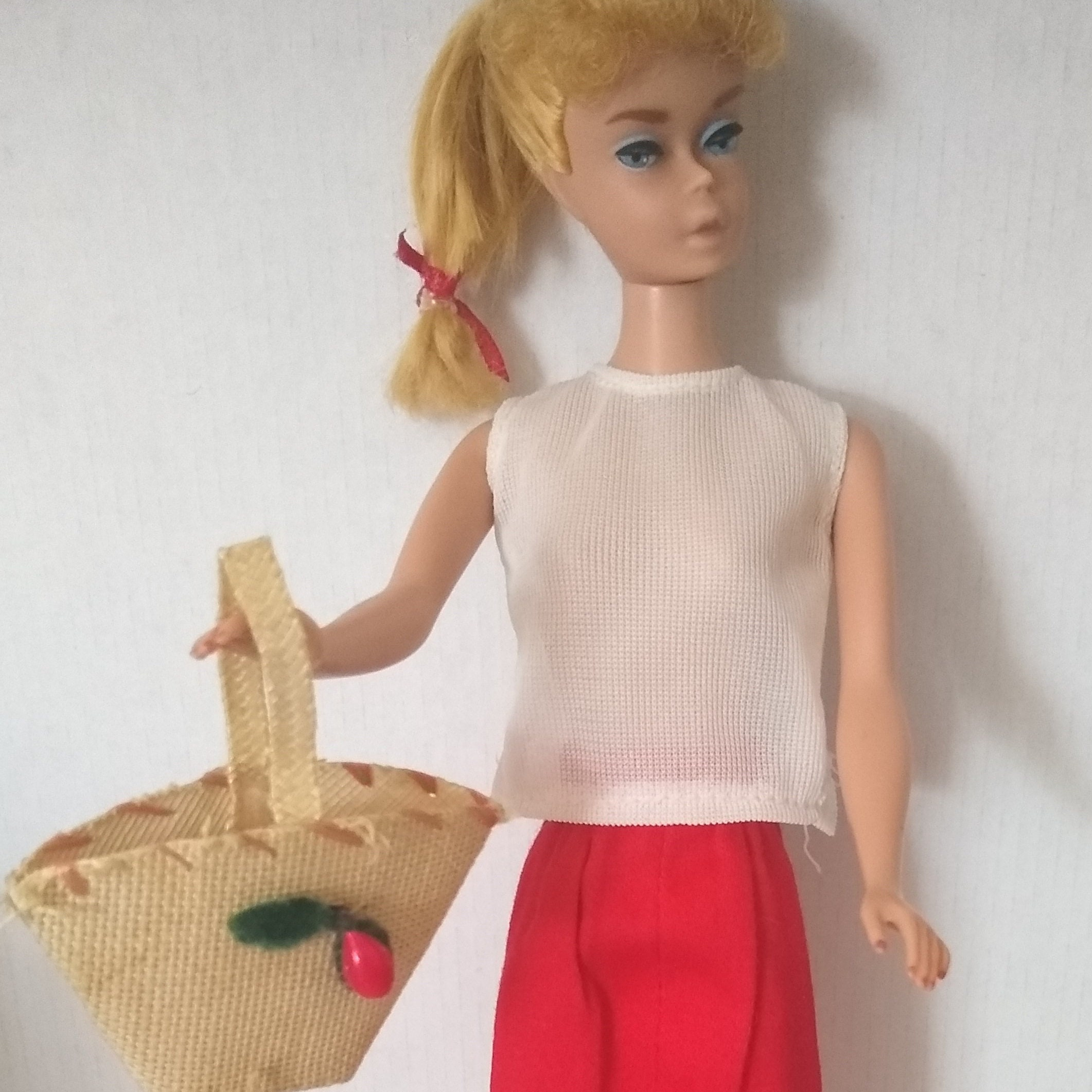 Crochet Straw Hat for Ideal Pepper Doll and Clone Doll Handmade
