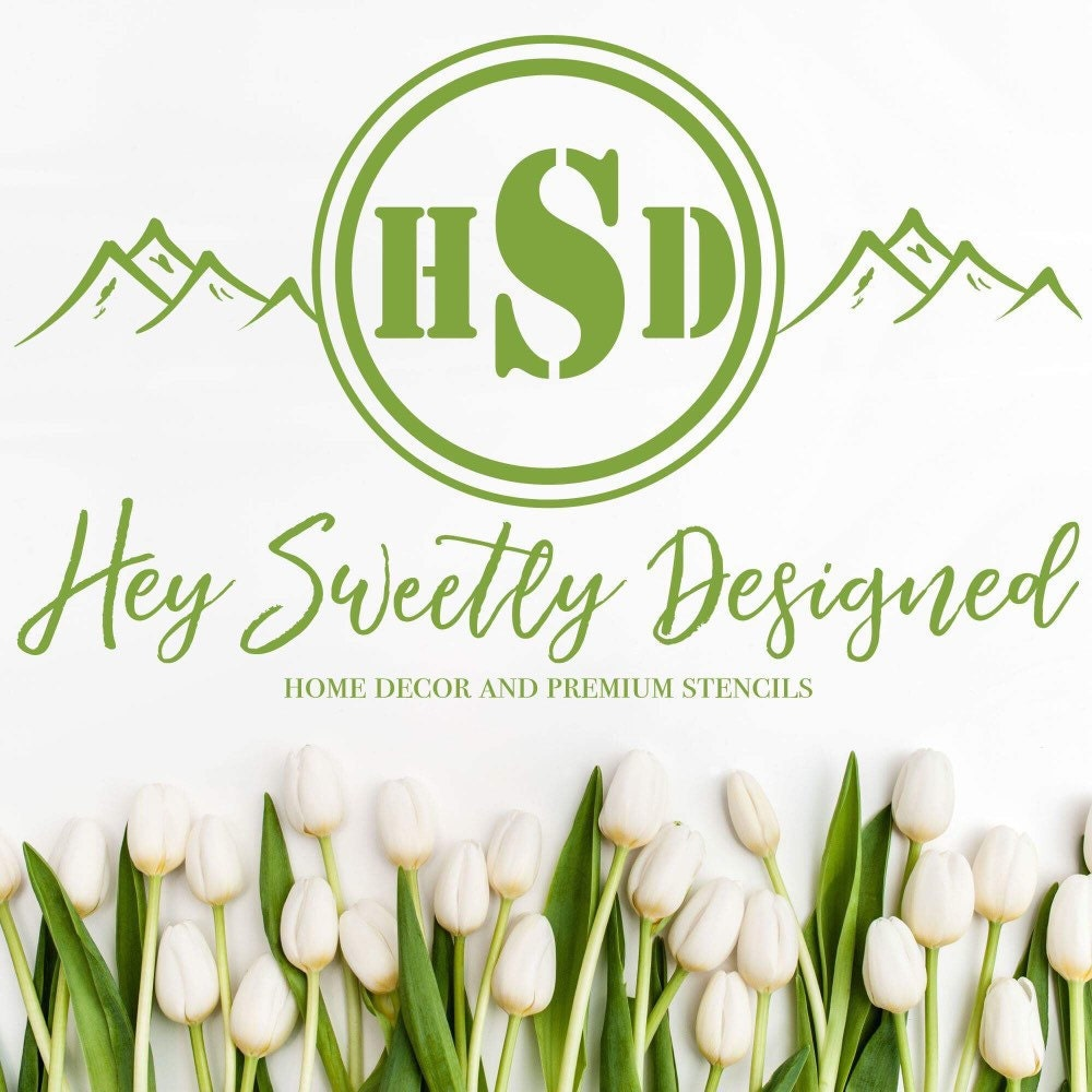 Home Decor And Premium Stencils By Heysweetly On Etsy