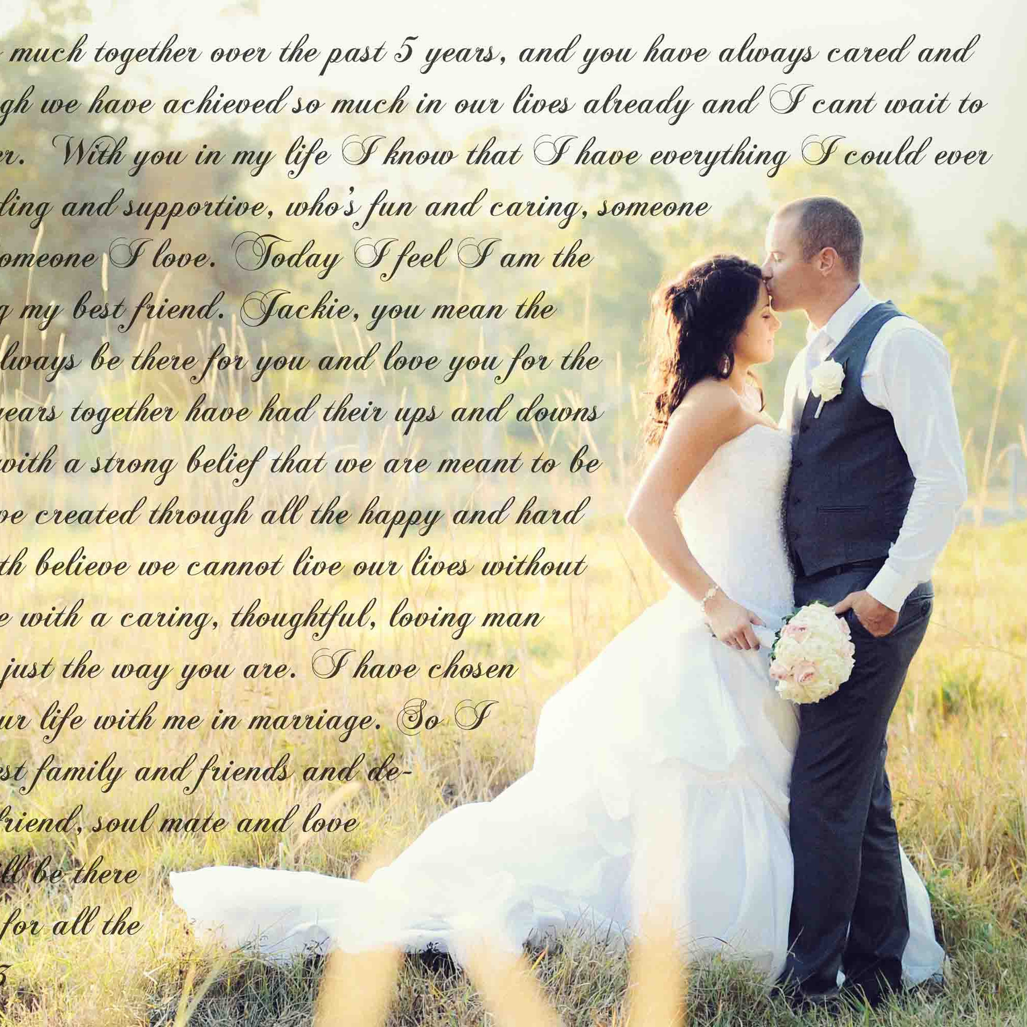 Custom Word Art Vows on Canvas Anniversary Gift by CanvasVows