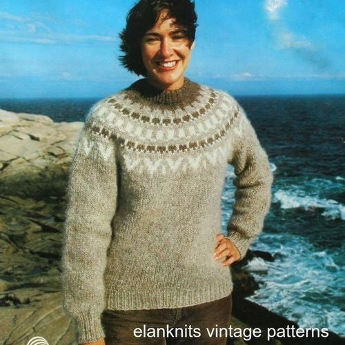 Sweater Knitting Patterns Mostly For Men Beehive Patons 667 Etsy