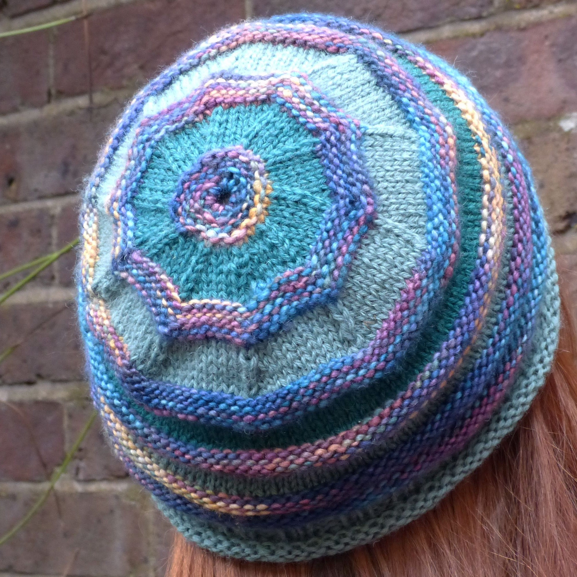 Knitting Pattern Pdf Leaf Motif Headband Knit In The Round Etsy