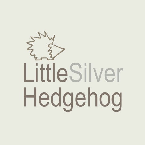 Lovely Little Decorative Silver Coloured Hedgehog Approx 15cm Length