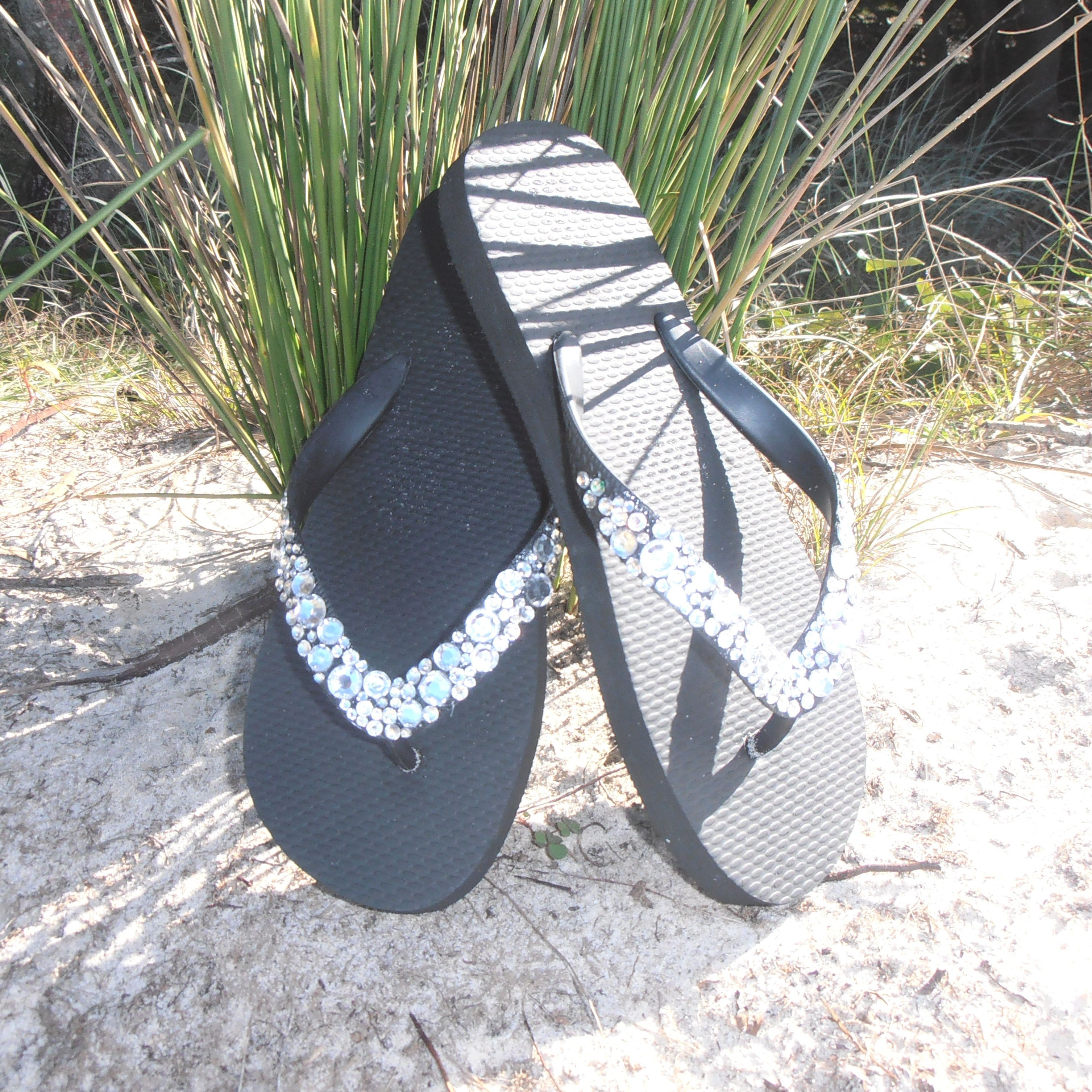 aa3cdcfec5ba2 flip flops thongs with bride in silver or gold letters get cheap ca003 35e20