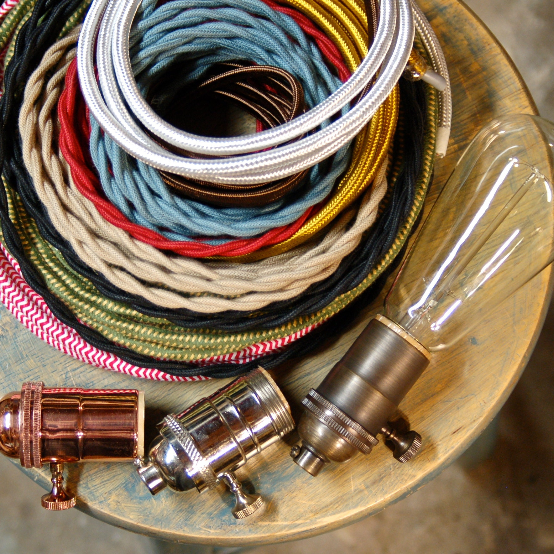 Diy Lighting Supplies Cloth Cord Brass By Snakeheadvintage Electrical Wiring South Africa