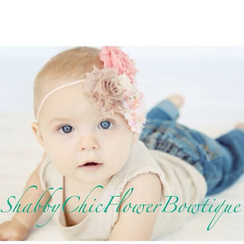 Baby Shower Gift Boutique Bow ready to ship SALE Fall Thanksgiving Headband Shabby Chic Photography Prop Sequin Bow
