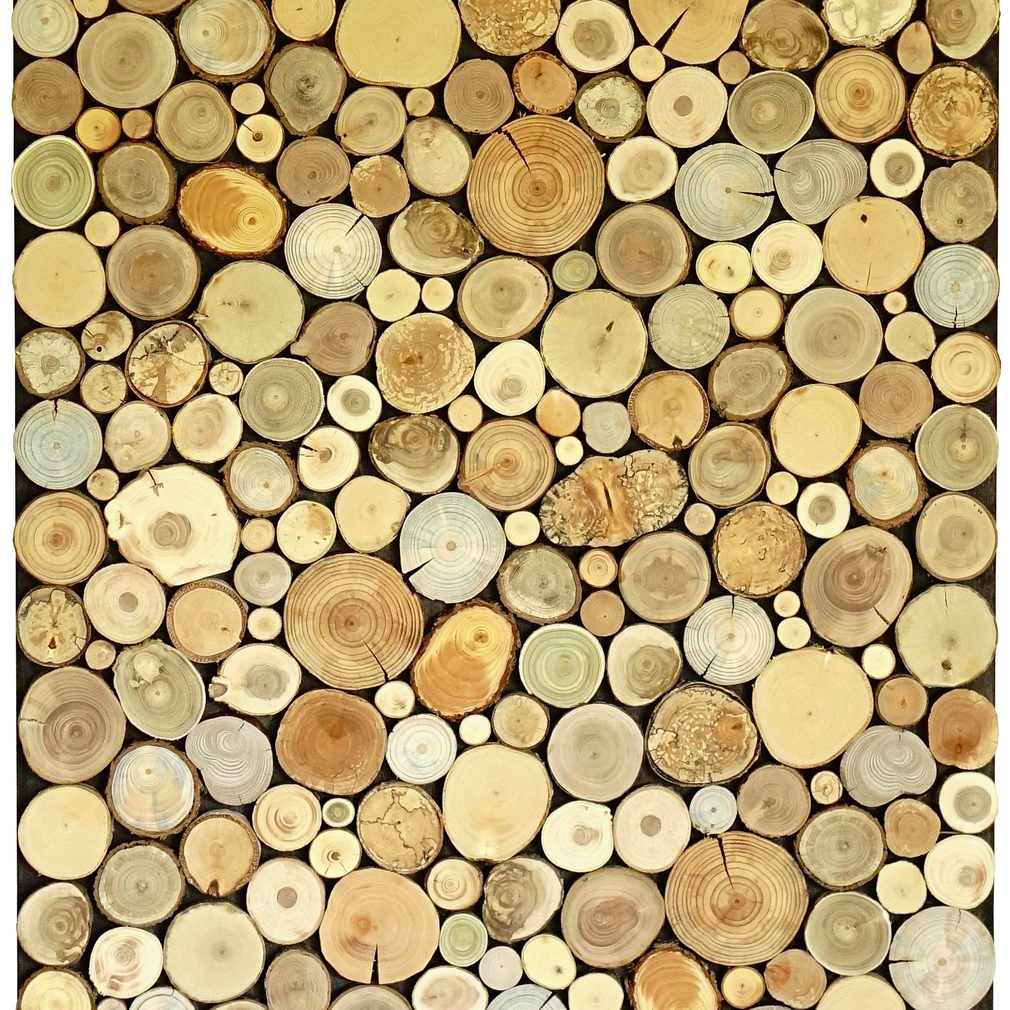 wood art chopped slices panel Environment wall art sliced | Etsy