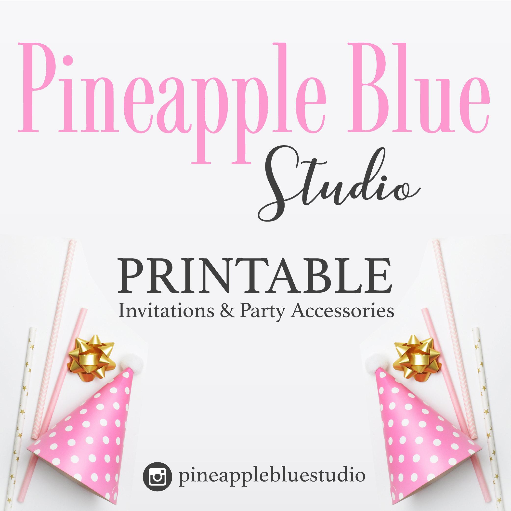 Floral girls birthday party invitation Girls invitation | Etsy