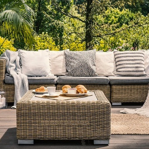 """Yellow Stripes Indoor//Outdoor Pillows Outdura Seaside Buttercup Set//2 17/"""" Square"""