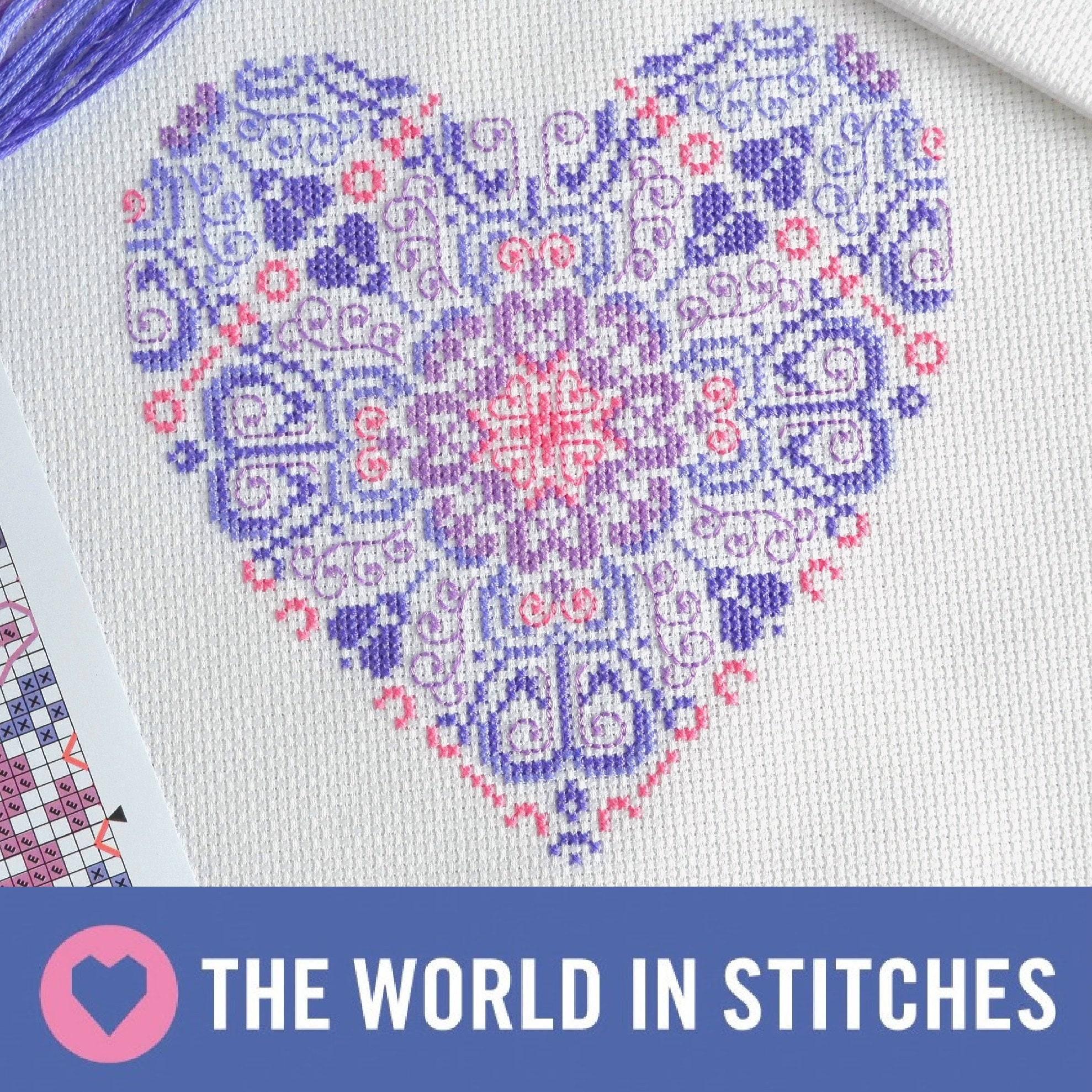 Original handmade cross stitch kits and von theworldinstitches