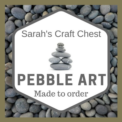 Pebble Art Pebble Picture Personalised Grandparent gift | Etsy