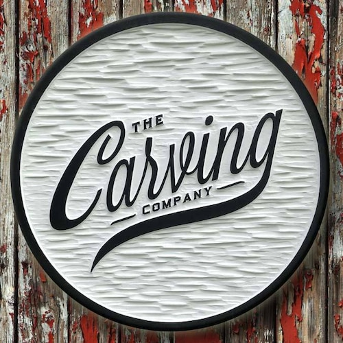 367ed011eef1 Fully customized carved sign shop by thecarvingcompany on Etsy
