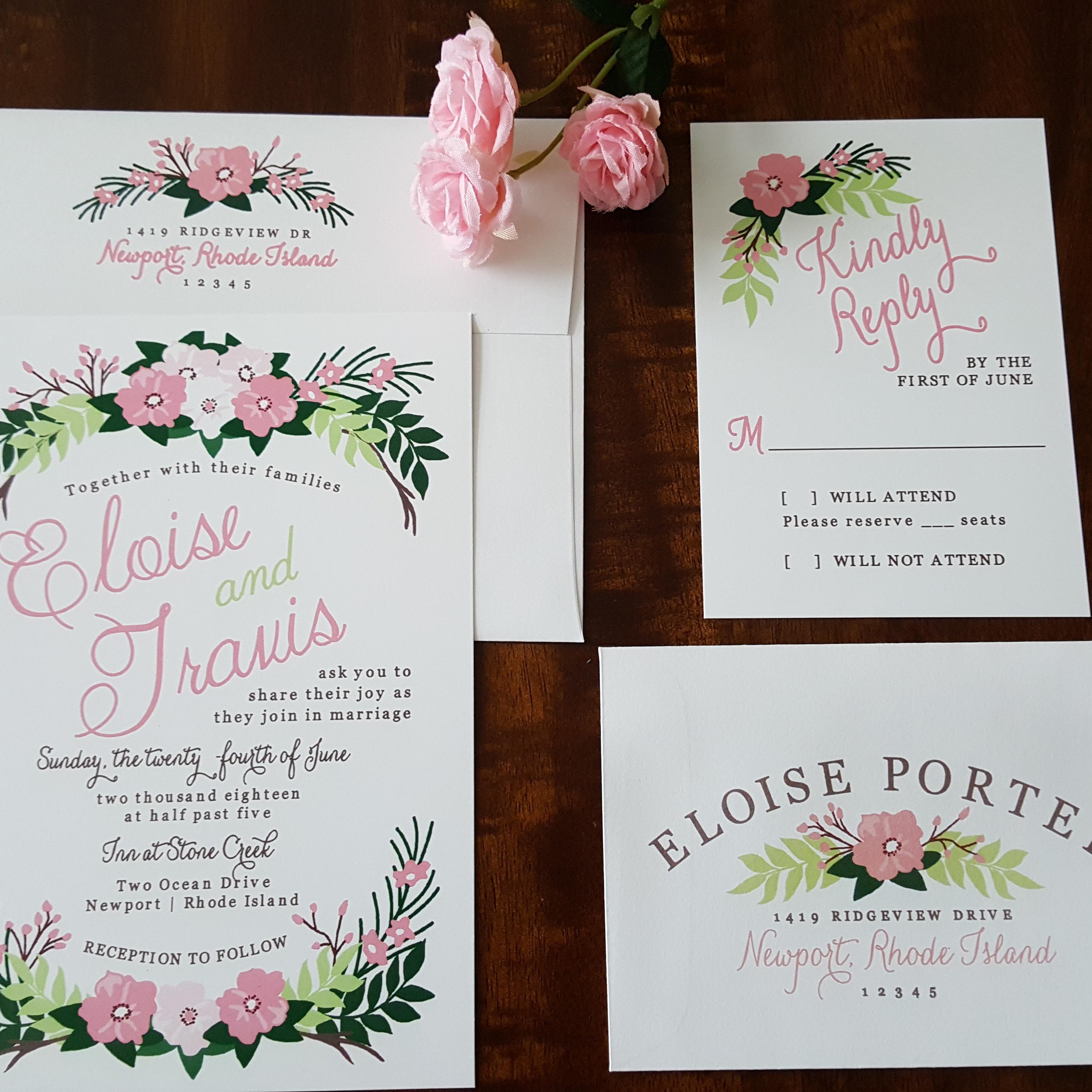 Beach Waves Wedding Invitation Destination Wedding Tropical   Etsy