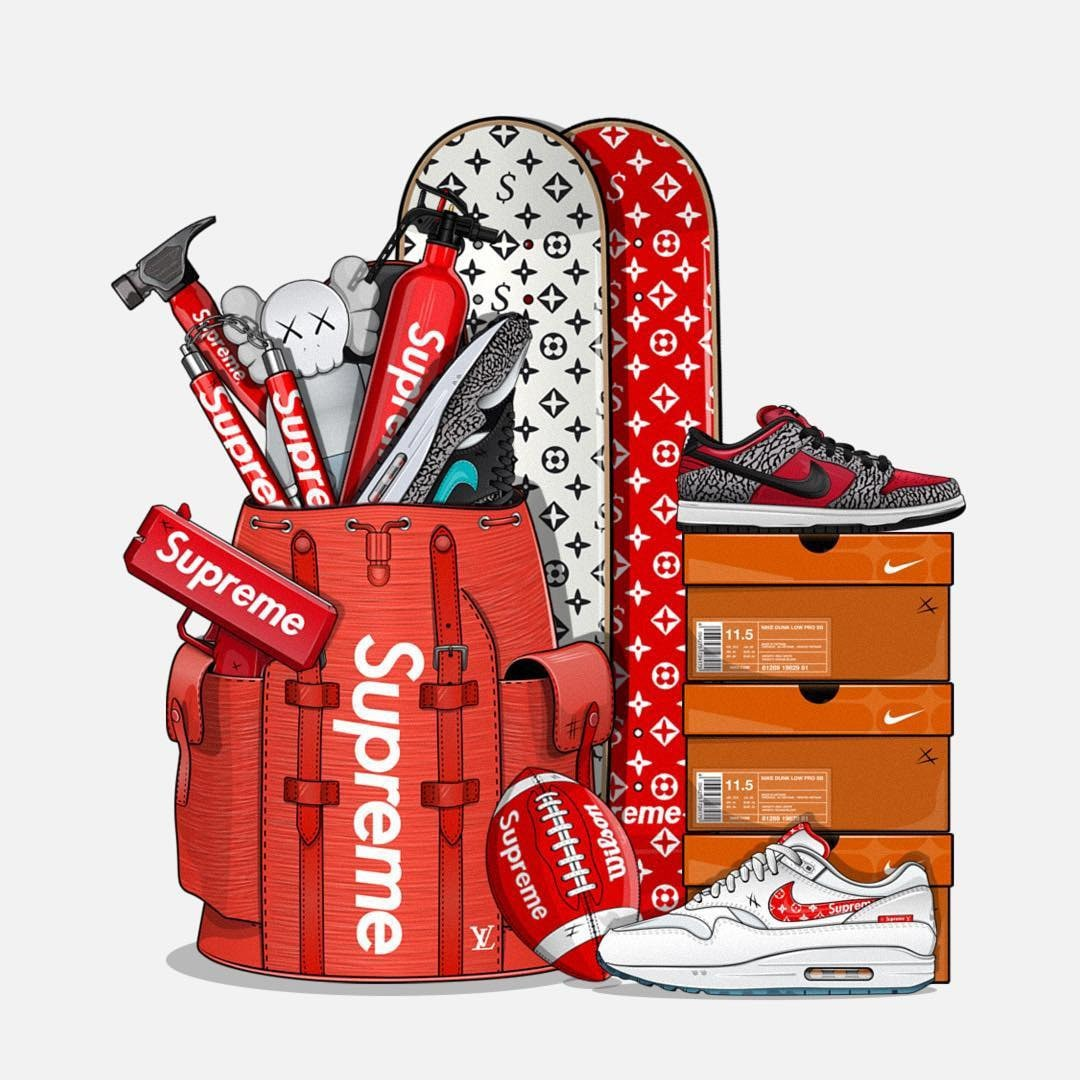 wholesale dealer 437a9 8577d Hype designs all delivered digitally for you supremesupplyco sneaker  hypebeast printable cartoon supreme logos jpg 1080x1080