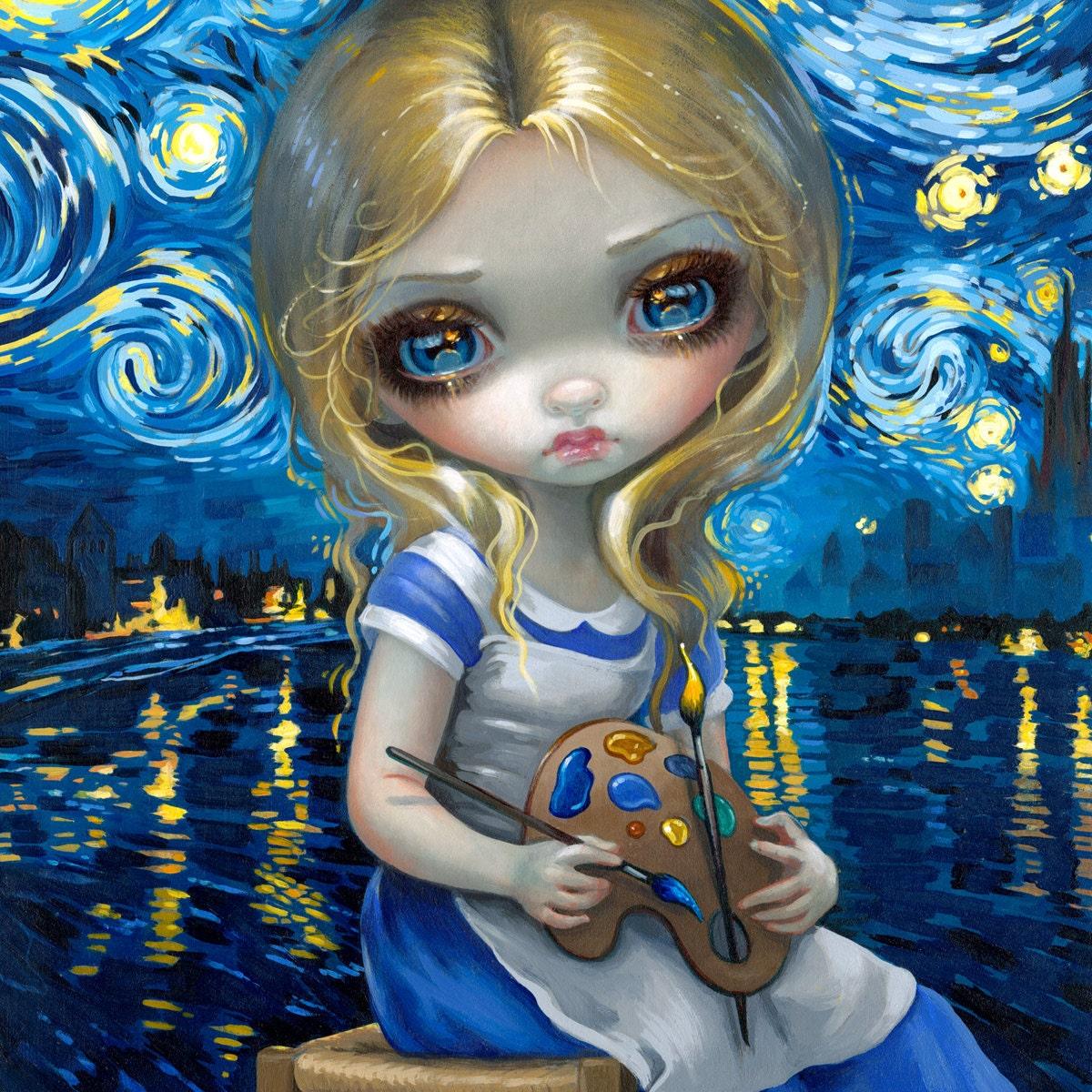 Jasmine Becket-Griffith art print SIGNED Poissons Les Yeux Globuleux flying fish