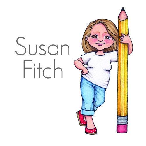 Original illustrations clip art and por SusanFitchDesign en Etsy