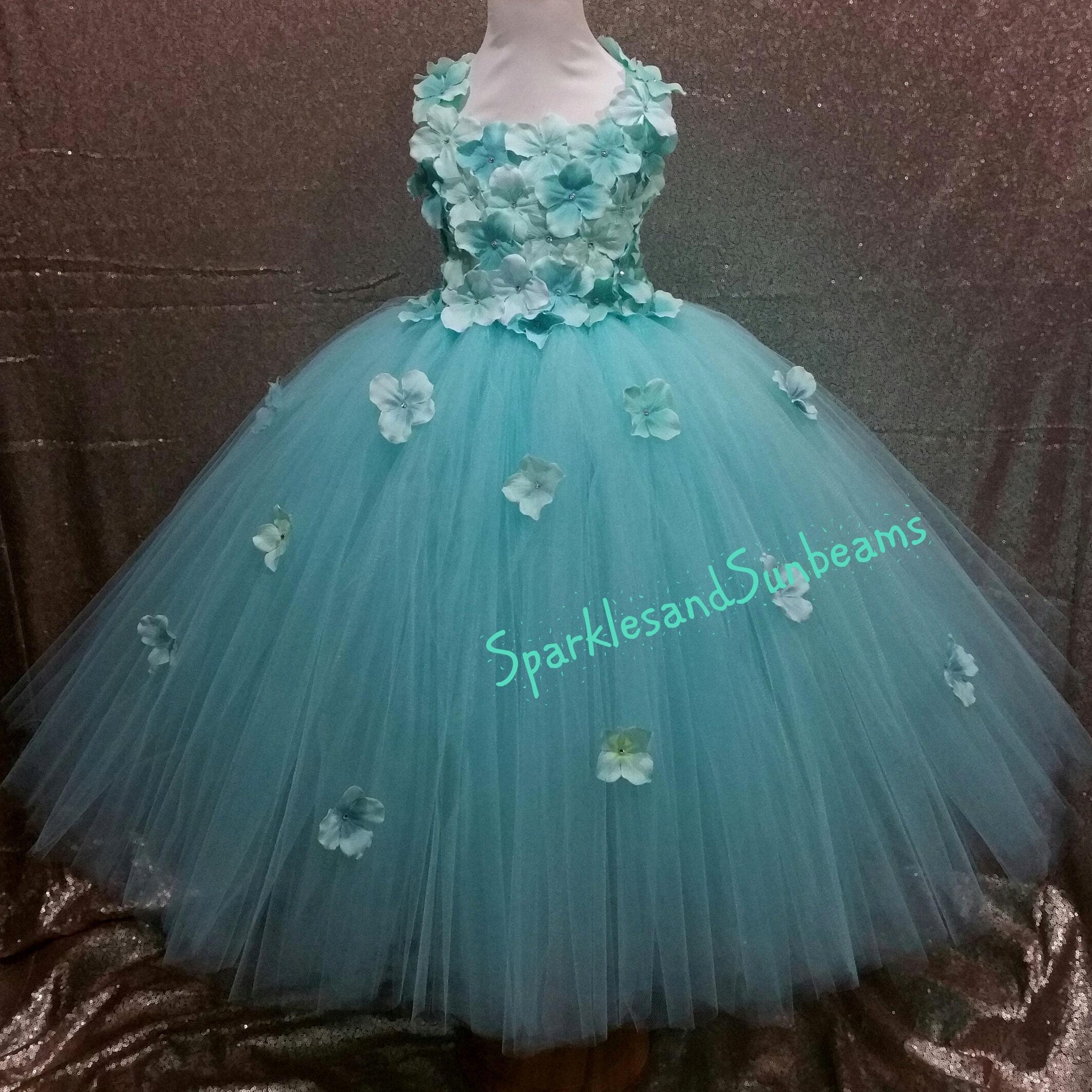 Ivory hydrangea flower tutu dress flower girl dressparty etsy sparklesandsunbeams izmirmasajfo