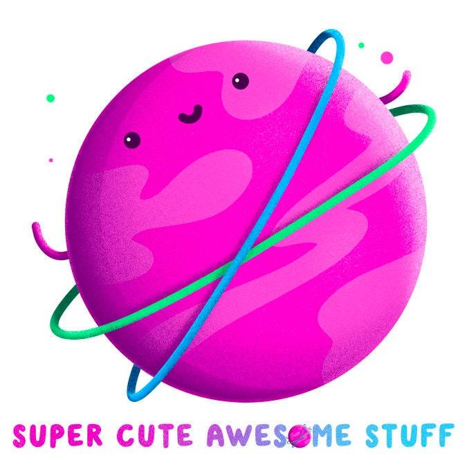 Cute Space Art Cute Geek Print Super Cute SciFi Print A4 Super Cute Chewie Print