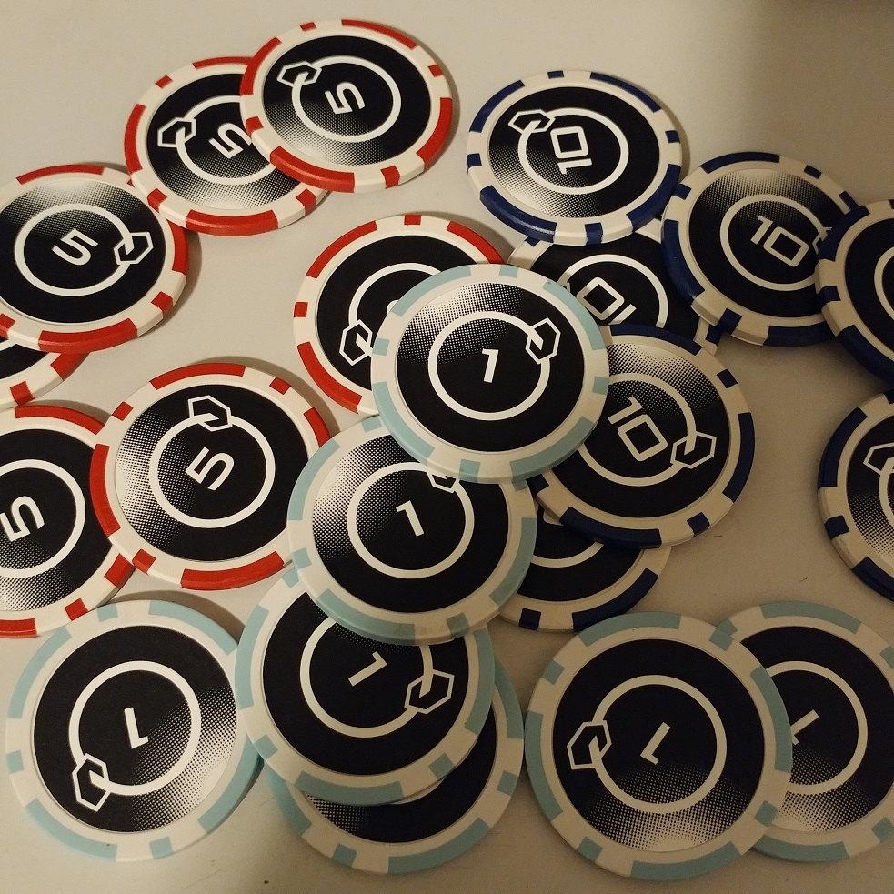 Custom Netrunner poker chips from Winnipeg MB von NetChips auf Etsy