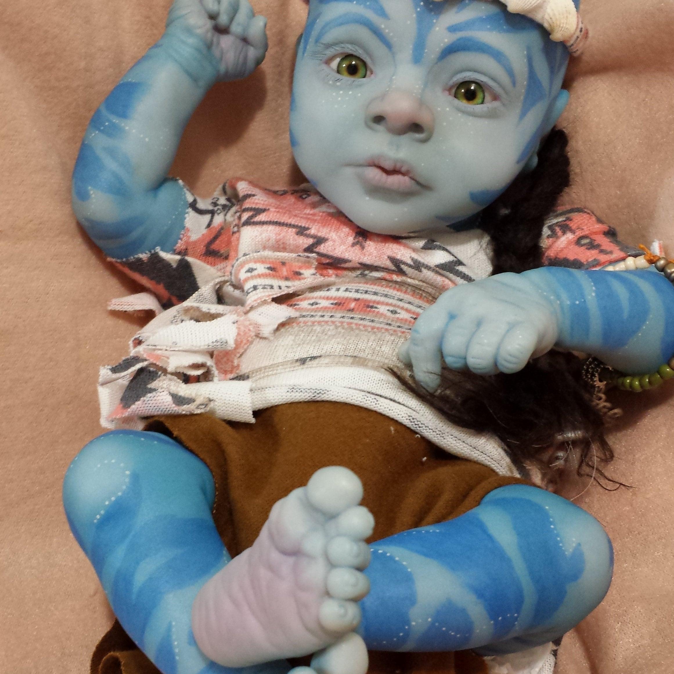 Baby Avatar 2: MADE TO ORDER Na'vi Avatar Baby / Fantasy Baby/ Reborn