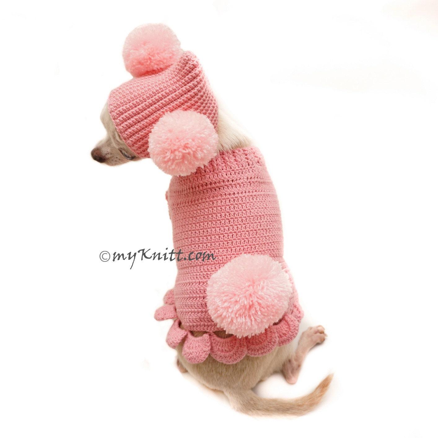 Myknitt Handmade Dog Sweater Dog Clothes Dog Clothing por myknitt