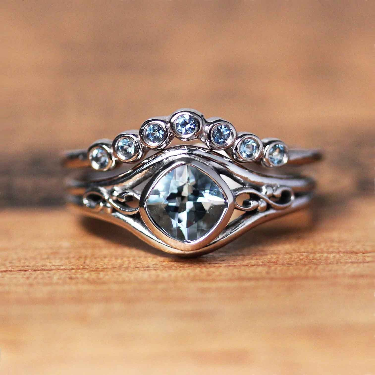 Unique Engagement Wedding Rings Gemstone Jewelry By Metalicious