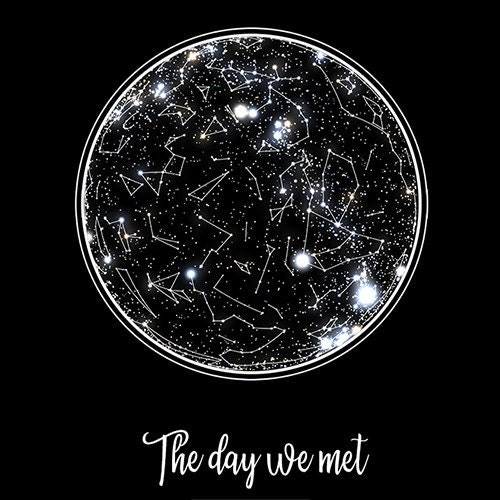 Star Map Custom Poster Astrological Star Chart Romantic Etsy